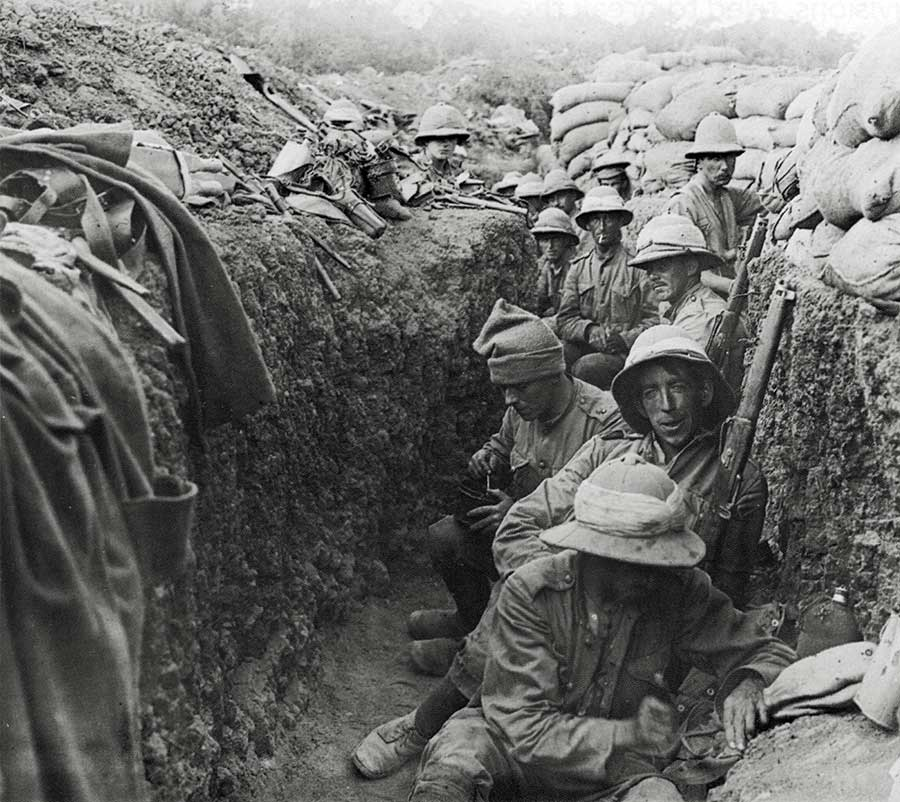 Soldiers in trench - Gallipoli