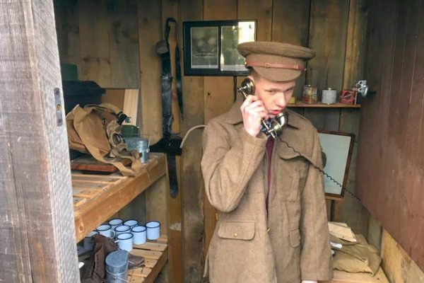 Journey project - in officer's mess on telephone
